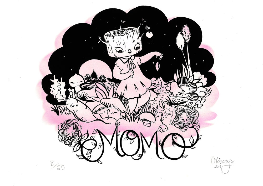 Image of MOMO A3 SILK SCREEN PRINT