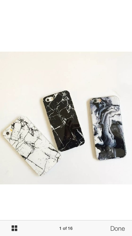 Image of Marble iPhone cases in 3 different designs