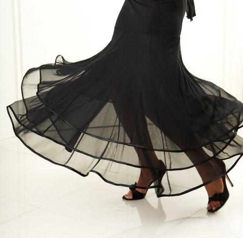 Image of Ballroom Flow Dress RED or BLACK H3279A Dancewear latin ballroom
