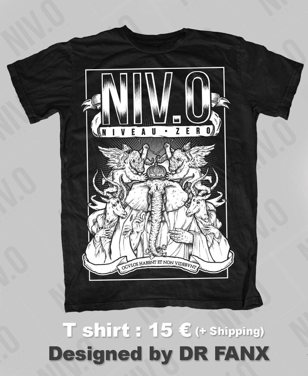 Image of Tshirt : NIVEAU ZERO ( NIV.0 : Hoculos Habent et Non Videbunt)