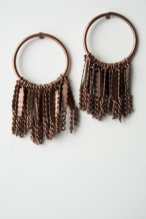 Image of Boucles d'oreilles Pompom Waterfall / Ponpom Earing