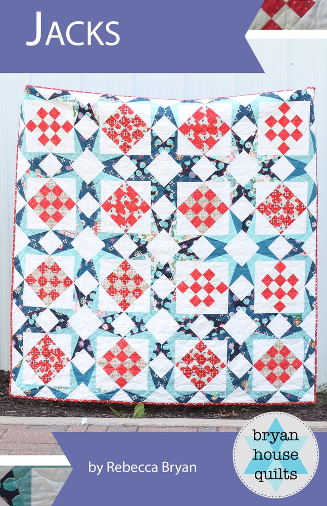 Image of Jacks Quilt Pattern {Paper Pattern}