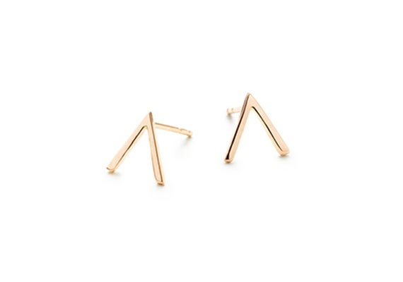 Image of MINI VIOLET STUD EARRINGS : ROSE GOLD