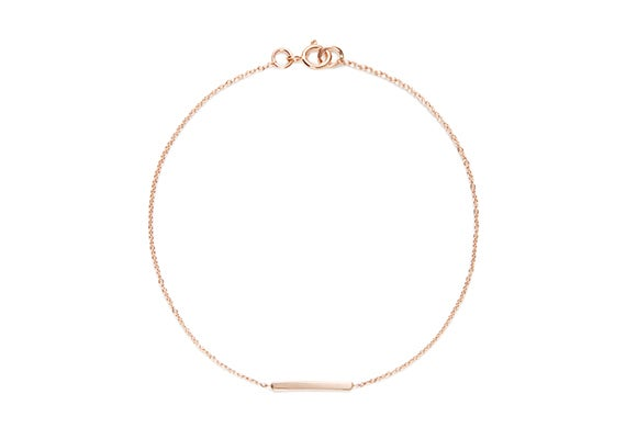 Image of LONG ALEXIS BAR BRACELET : ROSE GOLD