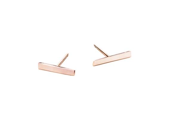 Image of LONG ALEXIS BAR EARRINGS : ROSE GOLD