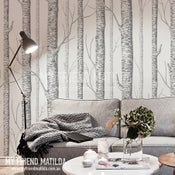 Image of Birch Forest Wallpaper - peel and stick