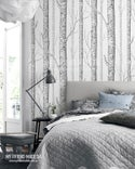 Birch Forest Wallpaper - peel and stick