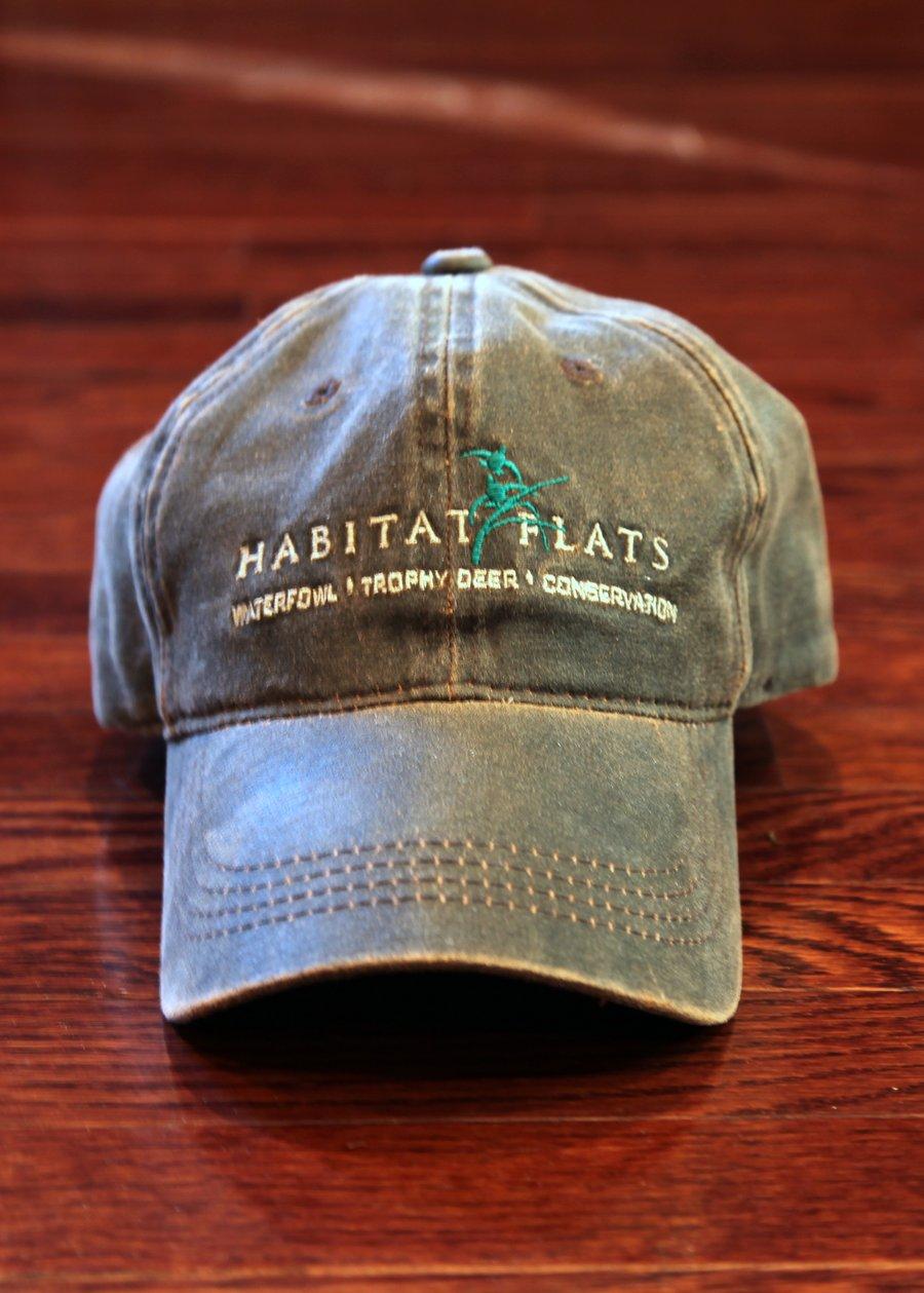 Image of Habitat Flats Full Logo Waxed Canvas Hat