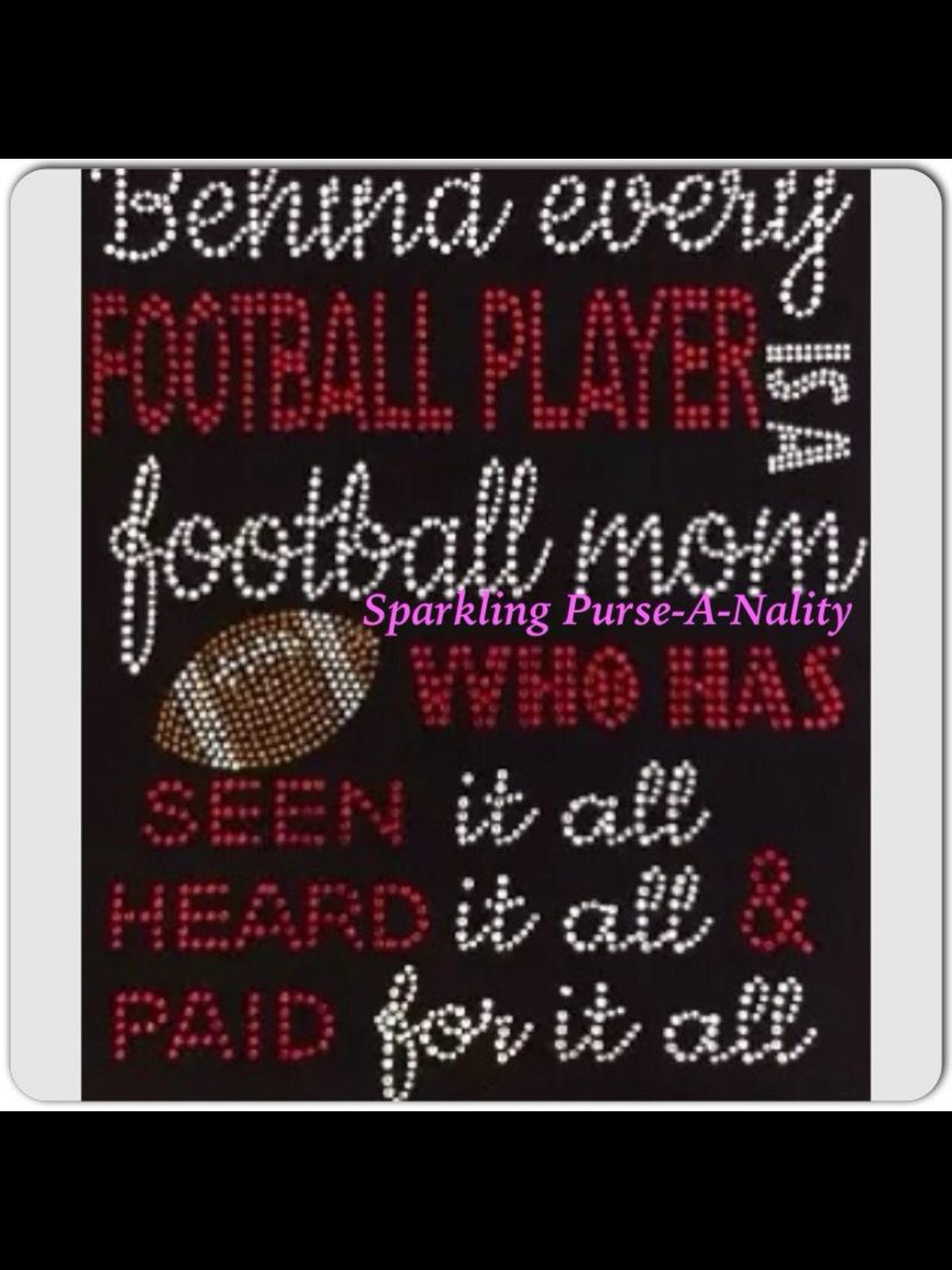 "Image of ""Sparkling"" Football Mom (2 Different Designs)"