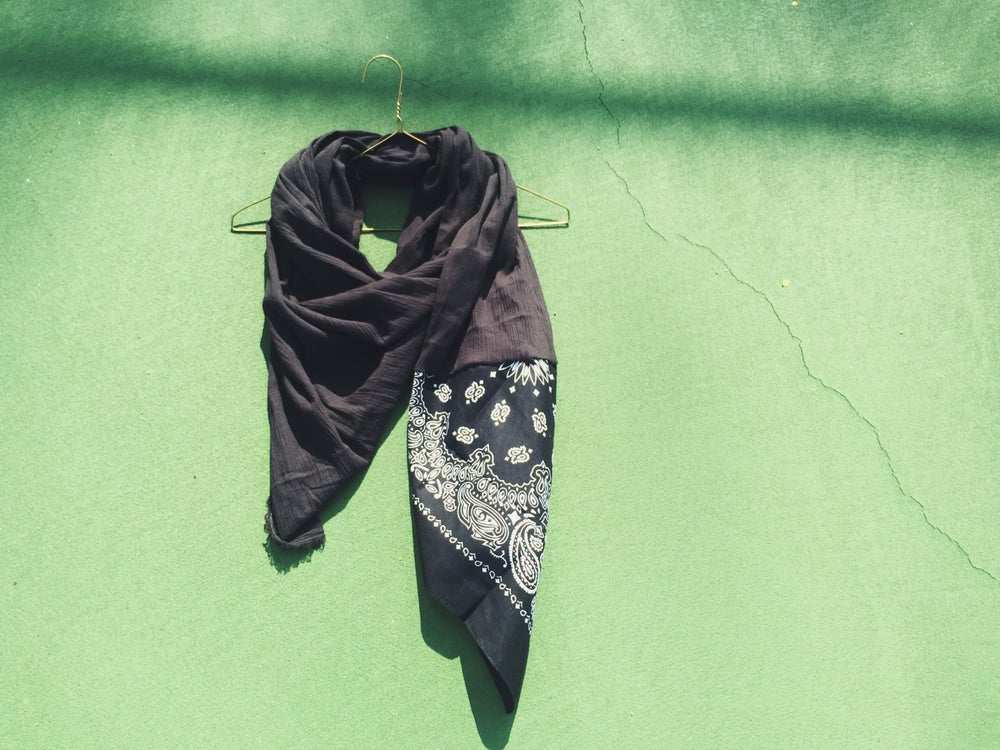 Image of black b a n d i t scarf