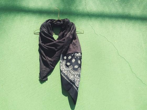 Image of black b a n d i t scarf