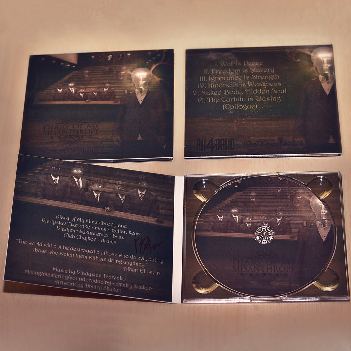 "Image of EP ""Theatre of the Absurd"" 4-panel DIGIPAK"