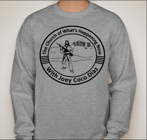 Image of Grey Long Sleeve Church Tee