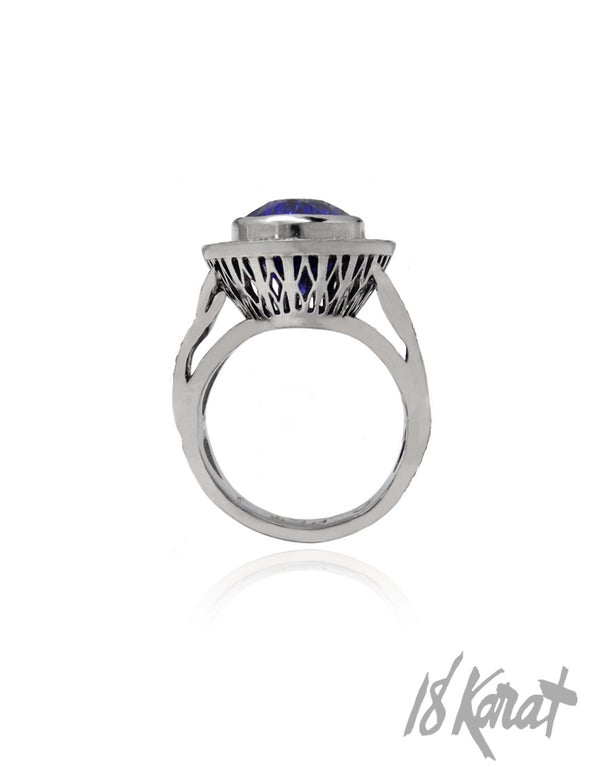 Eva's Tanzanite Ring - 18Karat Studio+Gallery