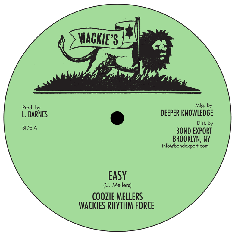 "Image of Coozie Mellers - Easy / You Move 10"" (Wackie's)"
