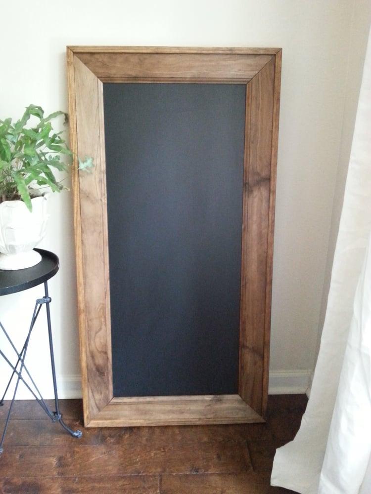 Image of Wood-Framed Custom Chalkboard