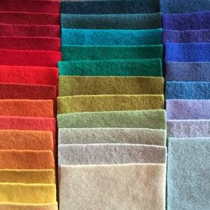 Image of Upcycled Rainbow Wool Felt Bundles