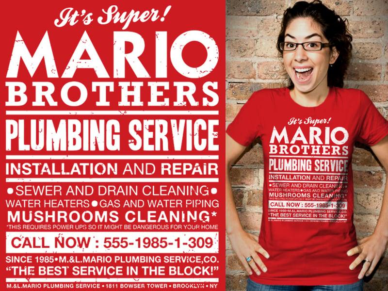 Mario Bros plumbing service {f}
