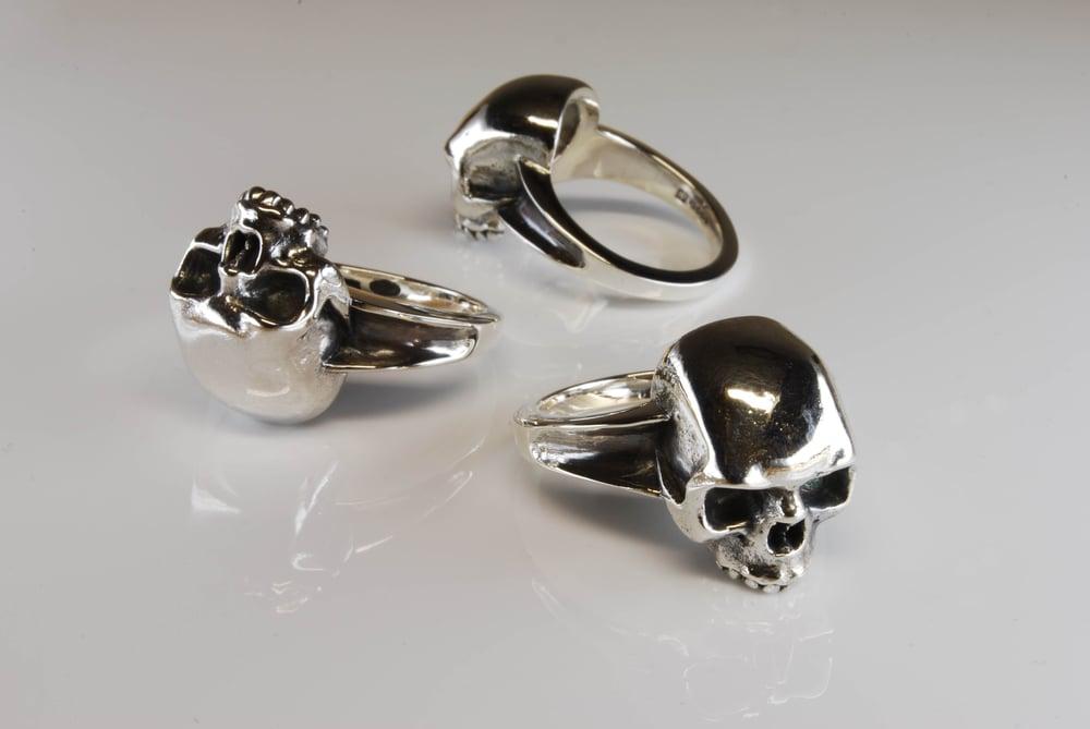 Image of Sterling Silver Skull Ring