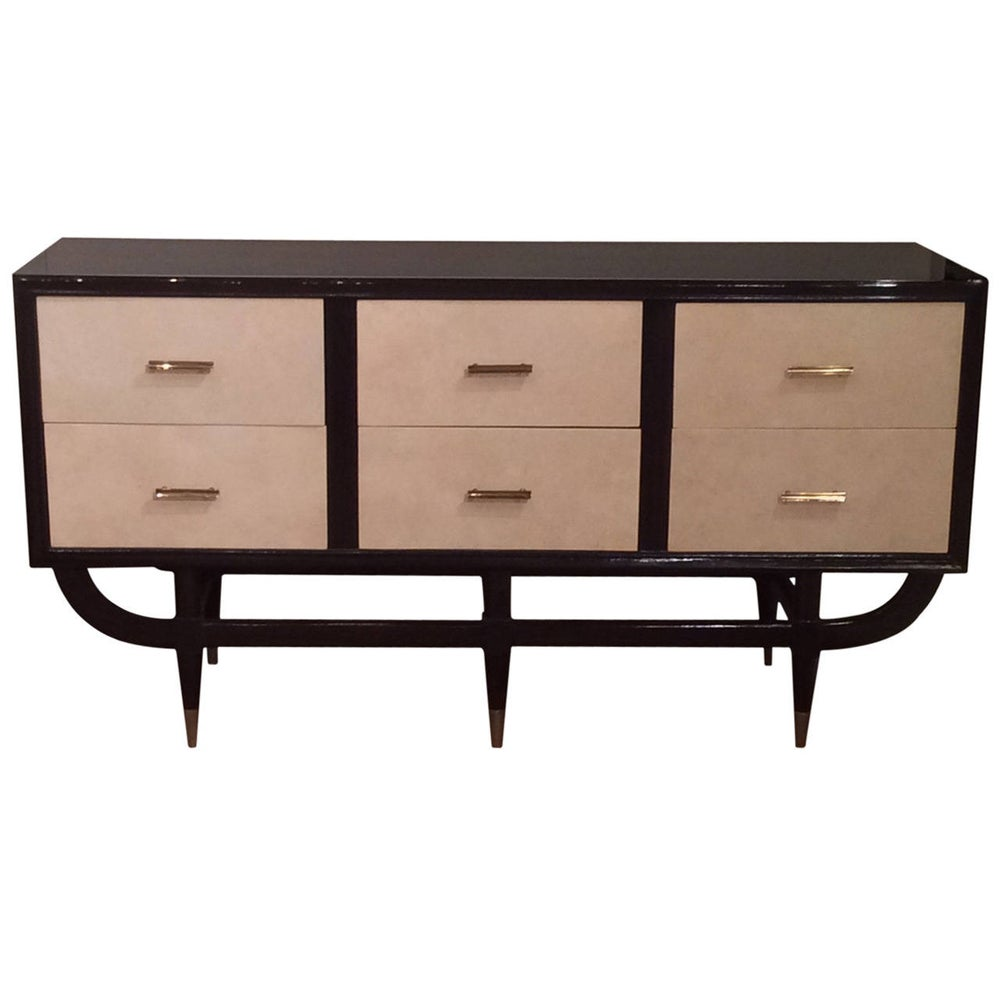 Image of Mid-Century Modern Credenza or Commode, Curved Frame, circa 1960
