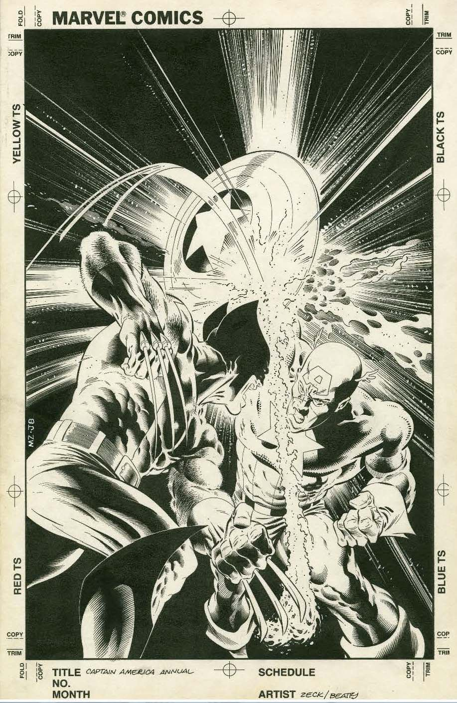 MIKE ZECK/'S Classic Marvel Stories ARTIST/'S EDITION HeroesCon Variant Cover