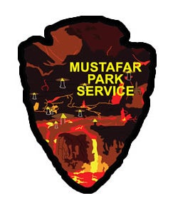 Image of Mustafar Park Service Series #7 Sticker
