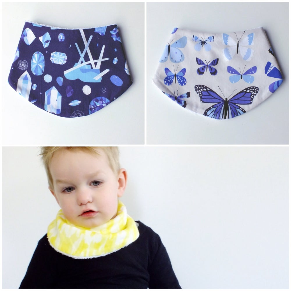 Image of DRIBBLE BIBS - GEMS AND BUTTERFLIES