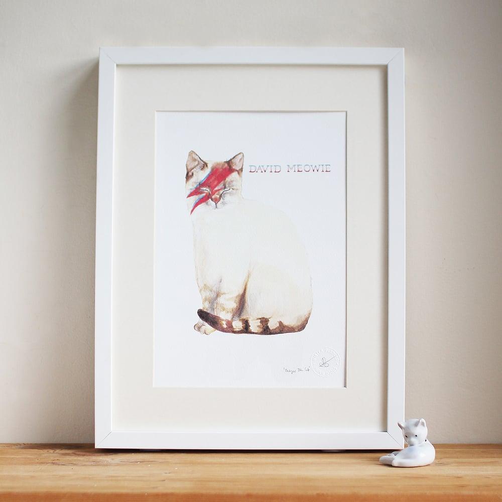 Image of David Meowie Art Print