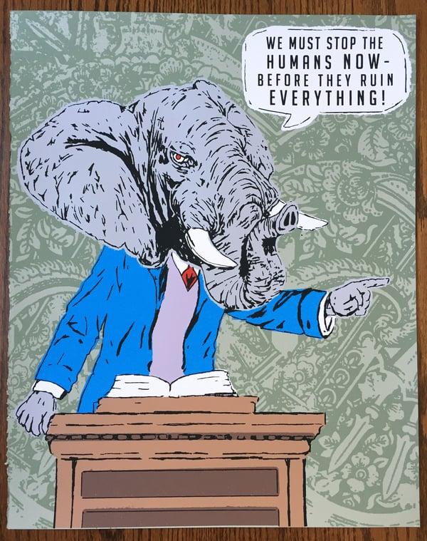 Image of Preach! - Hand Screen Printed Art Print
