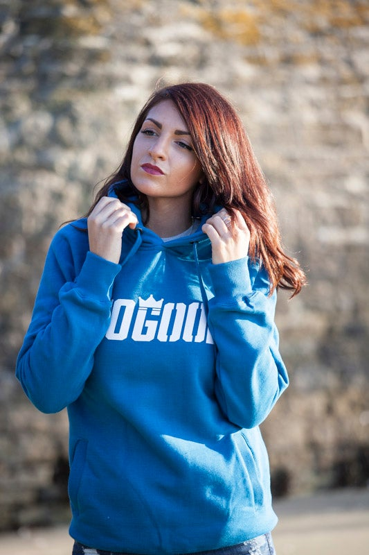 Image of No Good Hoody - Unisex *Island Blue/Claret Red/Dark Heather*