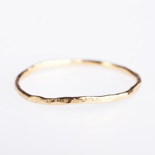 Image of Fijne ring uit zilver, geel verguld, verlovingsring fijn, ringen goud en zilver