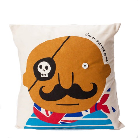 Image of Seb 'C'mon sit next to me' cushion cover