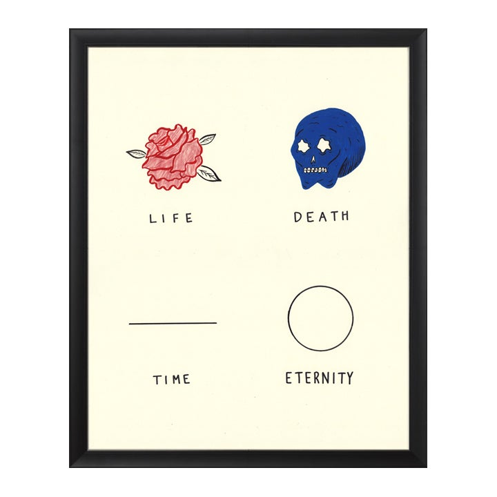 Image of LIFE/DEATH/TIME/ETERNITY print