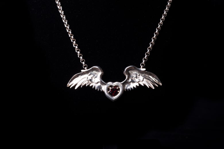 Image of 'WINGS' necklace.