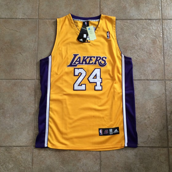 Image of Kobe Bryant Lakers Authentic Adidas Jersey Size 54