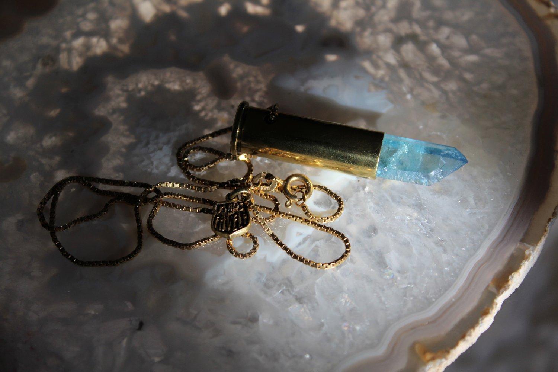 Image of 9ct gold Aqua Aura slimcase.