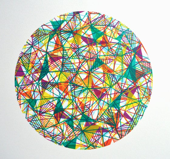 Image of 'Framework in Green' screenprint