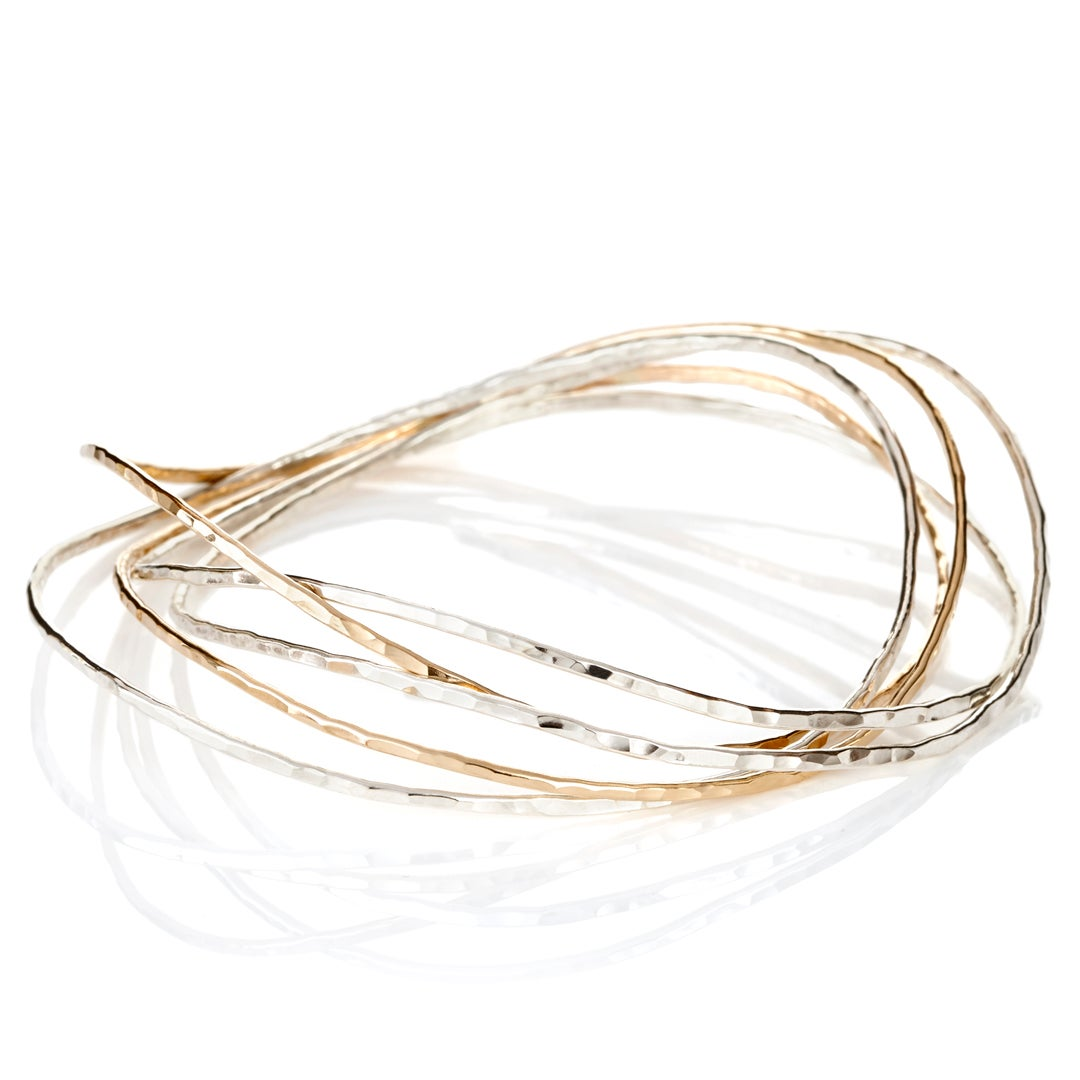 Image of Waves Bangle Bracelet