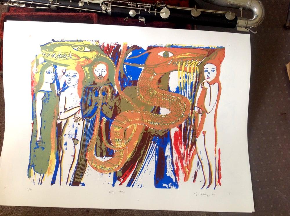 Image of DRAGON UTOPIA- screen print! Edition of 75
