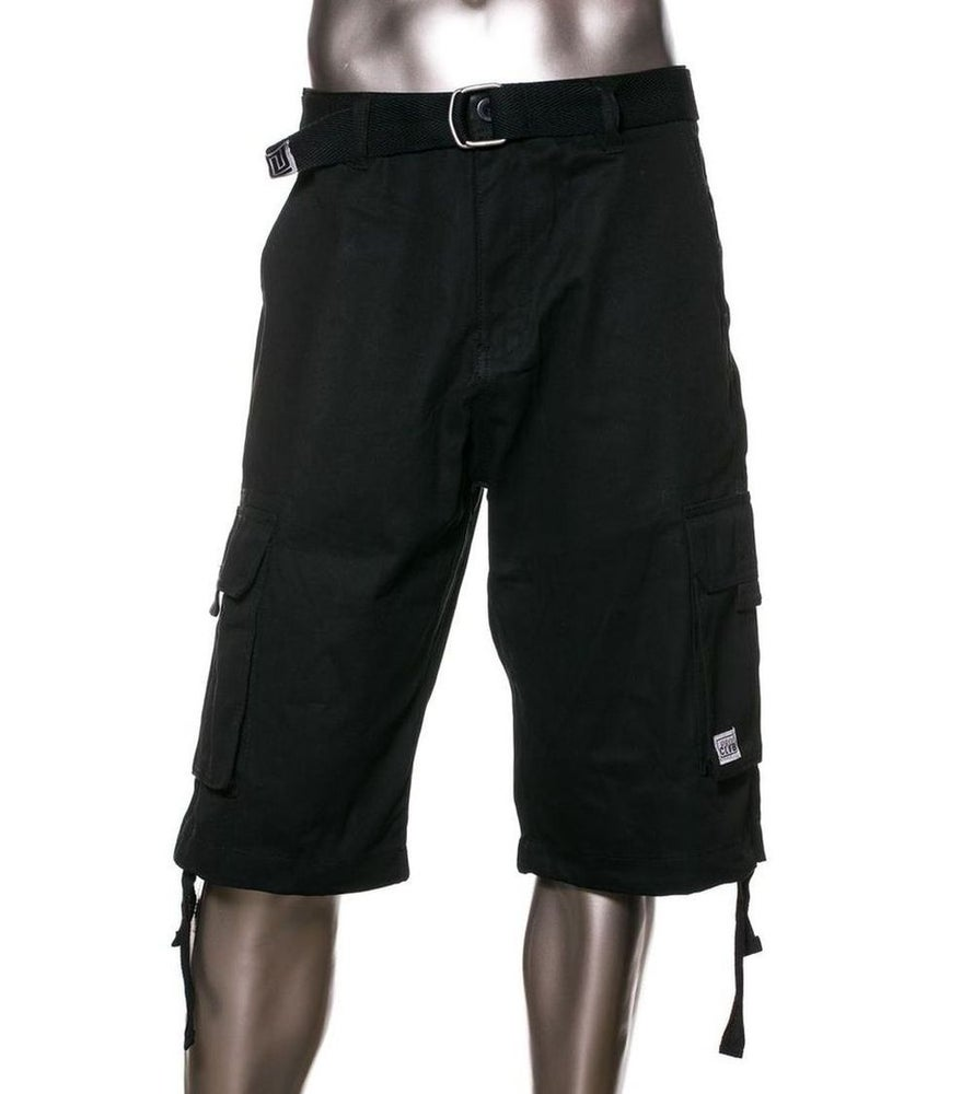 Image of Black Mens Twill Cargo Short (3 pieces)