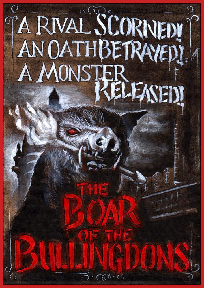 Image of 'Boar of the Bullingdons' art print