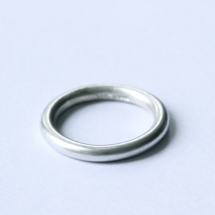 Image of handmade silver ring (Round profile brushed finish)