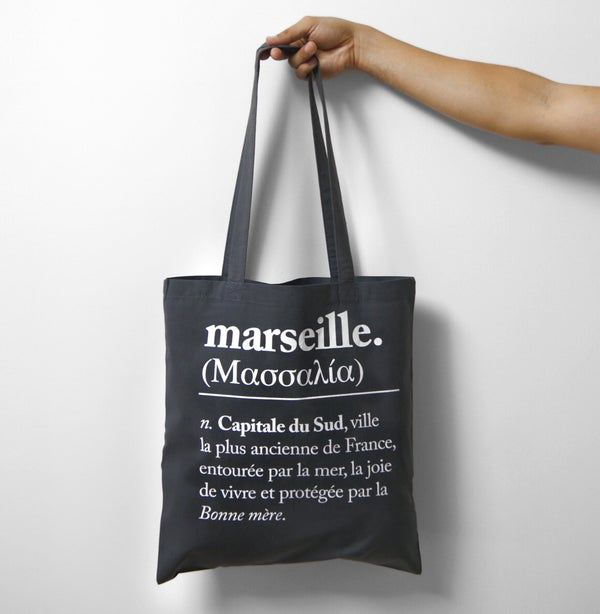 Image of ΜΑΣΣΑΛΊΑ tote bag gris