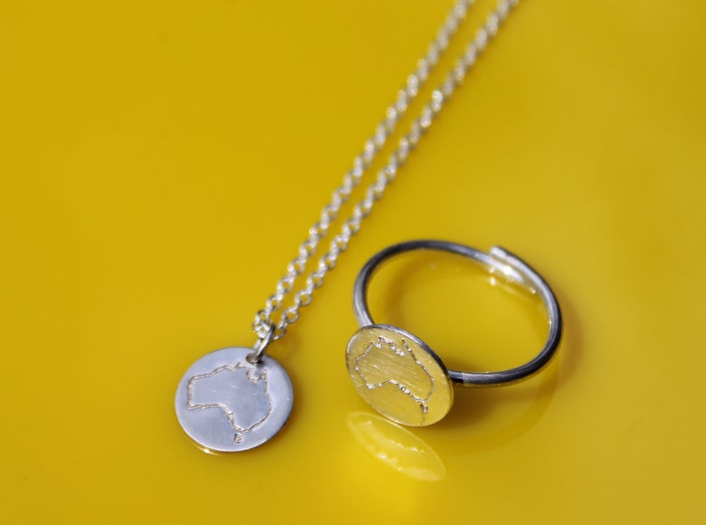 Image of Australia Necklace Ring Combo!