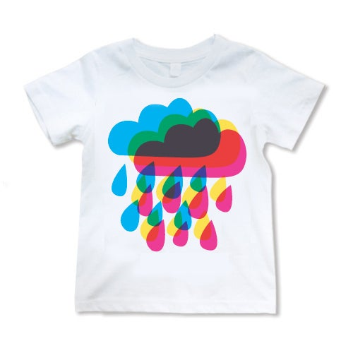 Image of Rainy Day Rainbow T-shirt on White