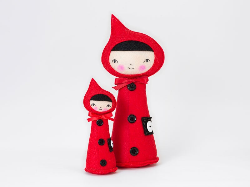 Image of Red Riding Hood Pincushion- small