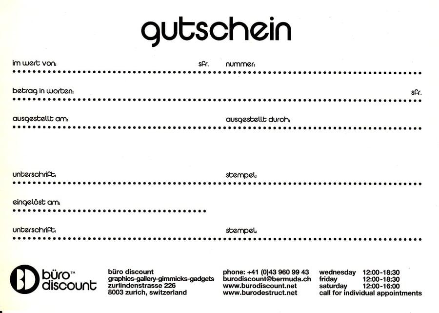 Image of Büro Discount by Büro Destruct - Gutschein (Gift Voucher)