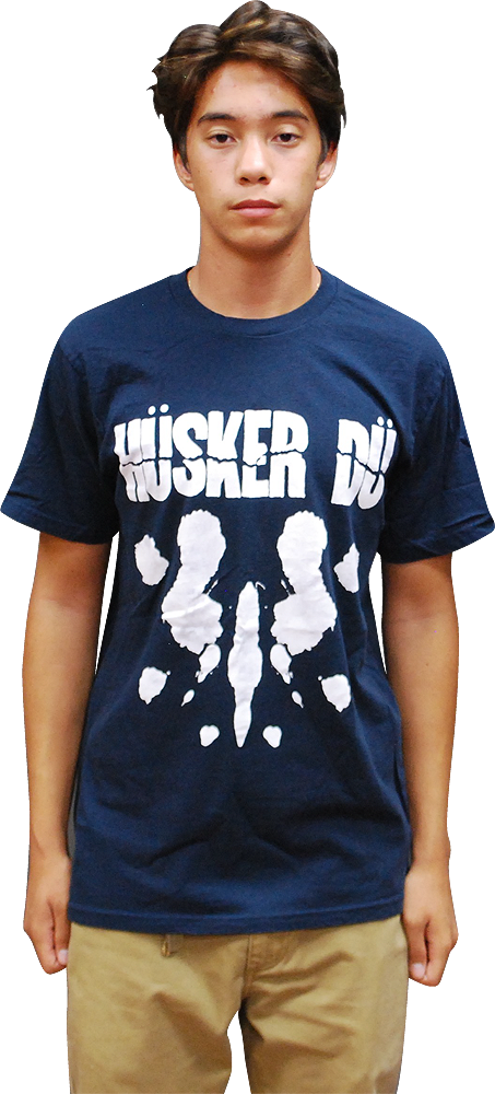 Image of HÜSKER DÜ: EVERYTHING FALLS APART NAVY T-SHIRT