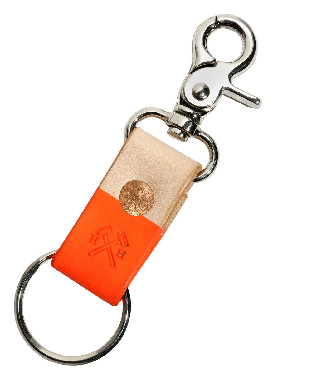 Image of Hand Dipped in Orange Paint Key Leash