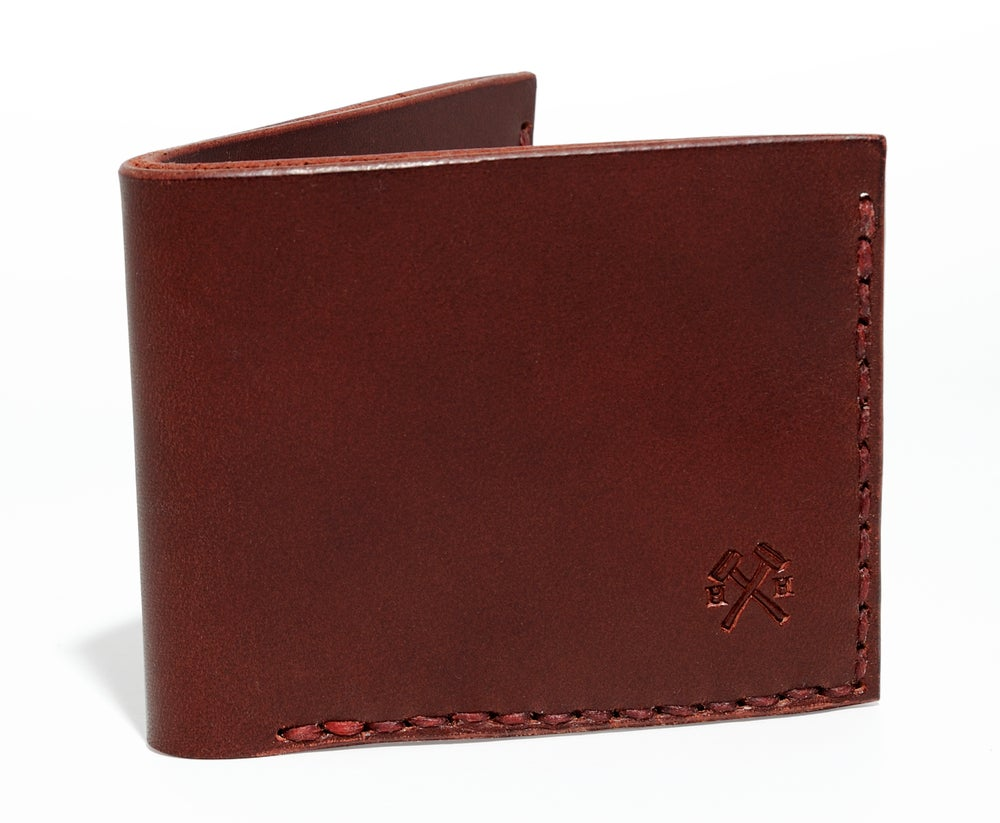 Image of Slim Wallet in Ox Blood